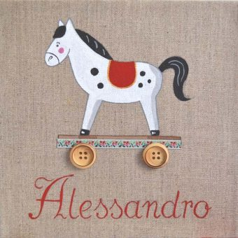 Immagine quadro soggetto Cavallo con ruote