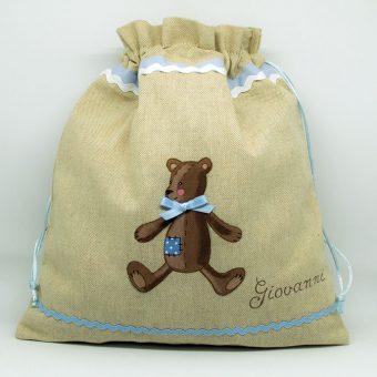 sacchetto bambino porta indumenti regalo nascita