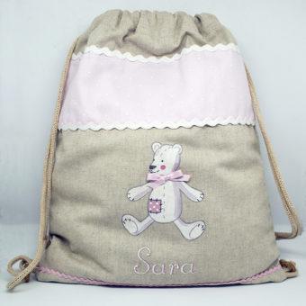 Zaino con orsetto rosa