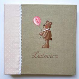 Album orso per bambina personalizzabile con il nome della bimba