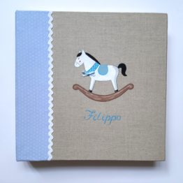 Boy album customizable with hand-painted name